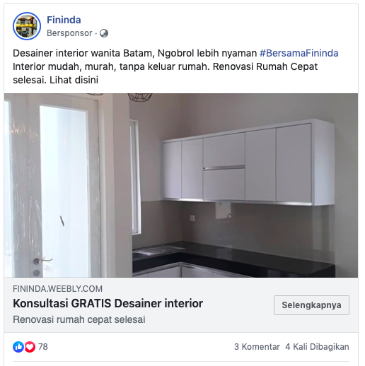 Iklan Facebook Desktop